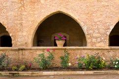Μοναστήρι Arkadiou Moni - Κρήτη, Ελλάδα Στοκ Φωτογραφία
