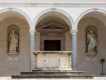 Μοναστήρι Benedictine του αβαείου Monte Cassino Ιταλία στοκ φωτογραφία με δικαίωμα ελεύθερης χρήσης
