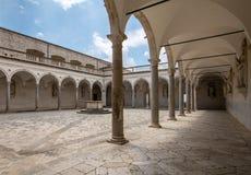Μοναστήρι Benedictine του αβαείου Monte Cassino Ιταλία Στοκ εικόνα με δικαίωμα ελεύθερης χρήσης
