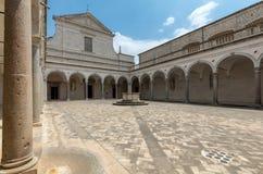 Μοναστήρι Benedictine του αβαείου Monte Cassino Ιταλία Στοκ Εικόνα