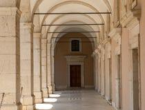 Μοναστήρι Benedictine του αβαείου Monte Cassino Ιταλία Στοκ φωτογραφίες με δικαίωμα ελεύθερης χρήσης