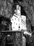 μοναστήρι bw ostrog Στοκ Εικόνα