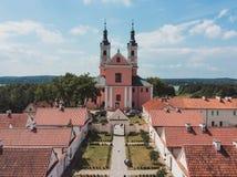 Μοναστήρι Camaldolese σε Wigry στοκ εικόνα