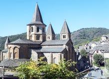 Μοναστήρι Carolingian Conques Στοκ Φωτογραφίες