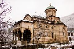 Μοναστήρι Cozia το χειμώνα Στοκ Εικόνα