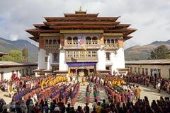 Μοναστήρι Gangtey, Gangteng, Μπουτάν Στοκ Εικόνες