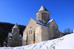Μοναστήρι Hagarcin, Αρμενία, ένα κρύο χειμερινό πρωί Στοκ Εικόνες