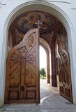 Μοναστήρι hodos-Bodrog - η κυρία είσοδος Στοκ φωτογραφία με δικαίωμα ελεύθερης χρήσης