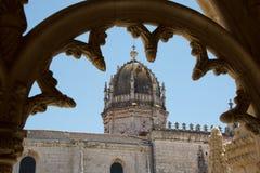 Μοναστήρι Jeronimos στη Λισσαβώνα, Πορτογαλία Στοκ εικόνα με δικαίωμα ελεύθερης χρήσης