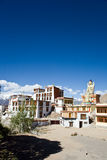 Μοναστήρι Likir με το άγαλμα του Βούδα, leh-Ladakh, Τζαμού και Κασμίρ, Ινδία Στοκ φωτογραφία με δικαίωμα ελεύθερης χρήσης