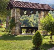 Μοναστήρι MORACA, τα καλύτερα σημαντικά σερβικά ορθόδοξα μνημεία σε Βαλκάνια Στοκ Εικόνες
