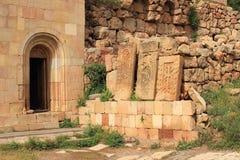 Μοναστήρι Noravank και khachkar Στοκ φωτογραφία με δικαίωμα ελεύθερης χρήσης