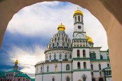 μοναστήρι novospassky Νέο μοναστήρι του λυτρωτή Ρωσία Istra Στοκ εικόνα με δικαίωμα ελεύθερης χρήσης
