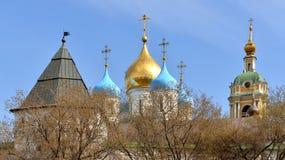 Μοναστήρι Novospassky (νέο μοναστήρι του λυτρωτή) Στοκ Εικόνες