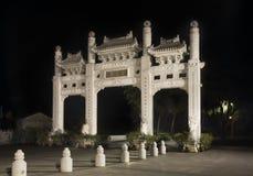 μοναστήρι po εισόδων lin Νησί Lantau Χογκ Κογκ Κίνα Στοκ Εικόνες