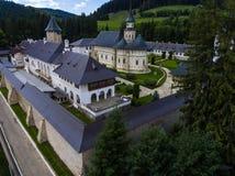 Μοναστήρι Putna Εναέρια άποψη με τον κηφήνα Στοκ Εικόνα