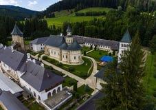 Μοναστήρι Putna Εναέρια άποψη με τον κηφήνα Στοκ Φωτογραφία