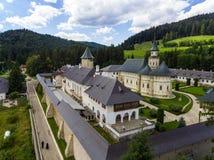 Μοναστήρι Putna Εναέρια άποψη με τον κηφήνα Στοκ Εικόνες