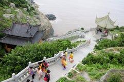 Μοναστήρι Putuoshan Κίνα Fanyin Στοκ Φωτογραφίες