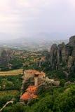 Μοναστήρι Roussanou σε Meteora στοκ εικόνα