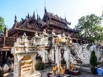 Μοναστήρι Shwenandaw ή χρυσό παλάτι στο Mandalay, το Μιανμάρ 3 Στοκ Εικόνα