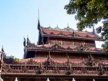 Μοναστήρι Shwenandaw ή χρυσό παλάτι στο Mandalay, το Μιανμάρ 4 Στοκ Εικόνα