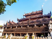 Μοναστήρι Shwenandaw ή χρυσό παλάτι στο Mandalay, το Μιανμάρ 2 Στοκ εικόνες με δικαίωμα ελεύθερης χρήσης