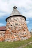 Μοναστήρι Solovetsky. Άσπρος πύργος Στοκ εικόνα με δικαίωμα ελεύθερης χρήσης