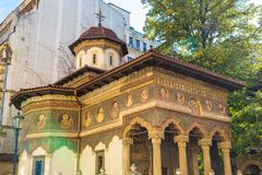 Μοναστήρι Stavropoleos στο Βουκουρέστι στοκ εικόνες