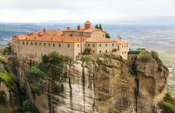 Μοναστήρι Stephanos επιβαρύνσεων σε Meteora, Ελλάδα Στοκ Εικόνα