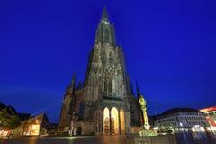 Μοναστηριακός ναός Ulm, Γερμανία Στοκ φωτογραφία με δικαίωμα ελεύθερης χρήσης