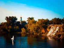 Μοναστικό νησί Στοκ φωτογραφία με δικαίωμα ελεύθερης χρήσης