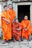 Μοναχοί σε Angkor Wat, Καμπότζη Στοκ φωτογραφία με δικαίωμα ελεύθερης χρήσης