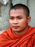 Μοναχοί σε Angkor Wat, Καμπότζη Στοκ εικόνες με δικαίωμα ελεύθερης χρήσης