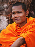 Μοναχοί σε Angkor Wat, Καμπότζη Στοκ Φωτογραφία