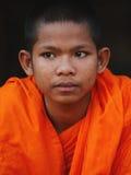 Μοναχοί σε Angkor Wat, Καμπότζη Στοκ εικόνα με δικαίωμα ελεύθερης χρήσης