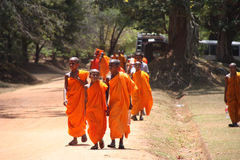 Μοναχοί της Σρι Λάνκα στοκ εικόνες με δικαίωμα ελεύθερης χρήσης