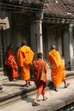 μοναχοί angkor Στοκ φωτογραφία με δικαίωμα ελεύθερης χρήσης