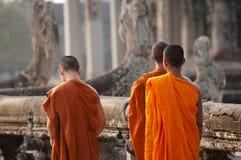 Μοναχοί - Angkor Wat - Καμπότζη Στοκ Φωτογραφίες