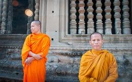 μοναχοί angkor wat Στοκ εικόνες με δικαίωμα ελεύθερης χρήσης