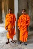 μοναχοί angkor wat Στοκ εικόνα με δικαίωμα ελεύθερης χρήσης