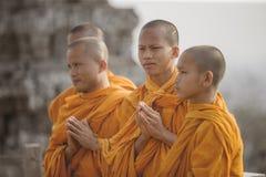 Μοναχοί Cambodjia Στοκ Φωτογραφία