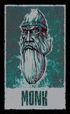 μοναχός Ήρωας φαντασίας επίσης corel σύρετε το διάνυσμα απεικόνισης Στοκ Εικόνα