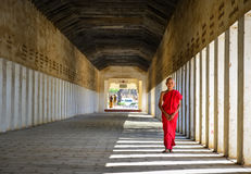 Μοναχός αρχαρίων σε Bagan, το Μιανμάρ Στοκ εικόνες με δικαίωμα ελεύθερης χρήσης