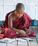 Μοναχός αρχαρίων, το Μιανμάρ Στοκ Φωτογραφίες