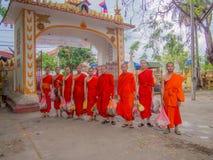 Μοναχός σε βουδιστικό στοκ φωτογραφίες με δικαίωμα ελεύθερης χρήσης