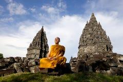 Μοναχός σε Pramban στοκ φωτογραφίες με δικαίωμα ελεύθερης χρήσης