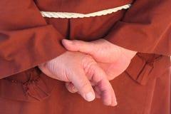 μοναχός χεριών Στοκ φωτογραφία με δικαίωμα ελεύθερης χρήσης