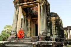 μοναχός angkor wat Στοκ εικόνα με δικαίωμα ελεύθερης χρήσης