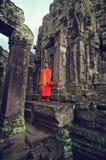 μοναχός angkor wat Στοκ Φωτογραφίες